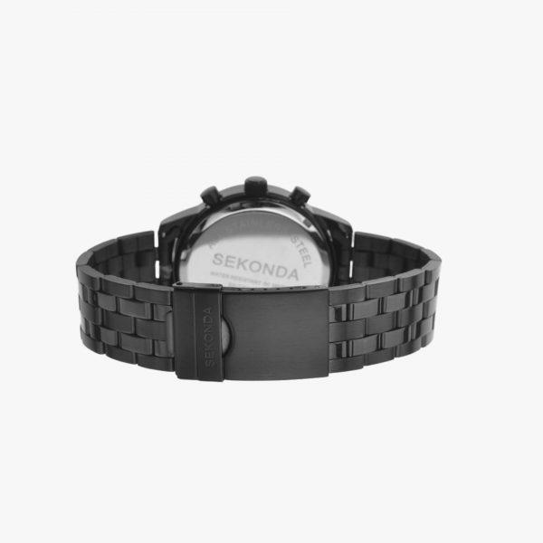 Sekonda, Men's Watch, Stainless Steel, Chronograph, Black Ion Plated