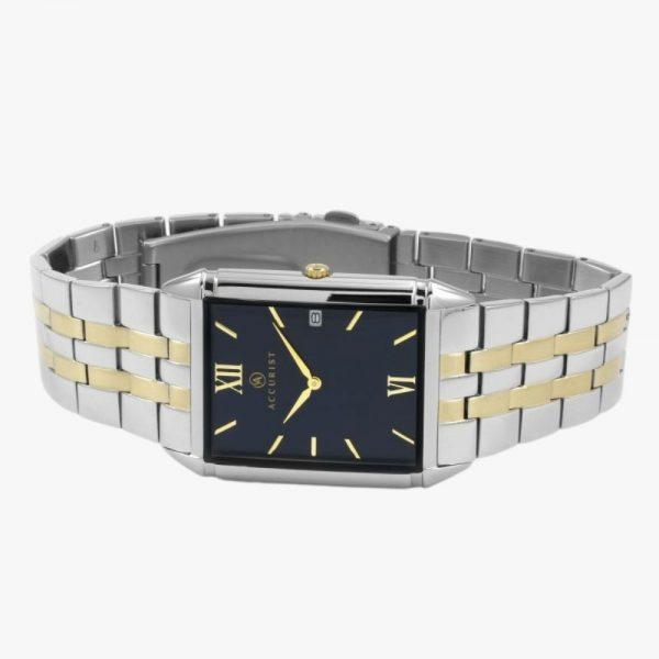 Men's Watch, Accurist, Stainless Steel, Blue Dial, Analogue Display