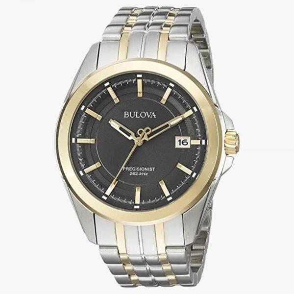 Bulova, Men's Watch, Precisionist, Stainless Steel, Analogue Watch, Grey