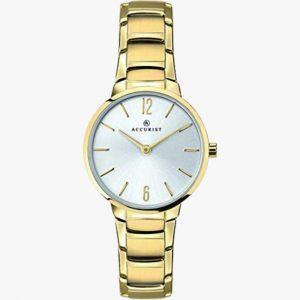 Gold Plated, Stainless Steel, Accurist, Ladies Watch
