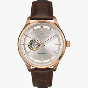 Stainless Steel, Men's Watch, Brown Leather Strap, Analogue Watch, Accurist