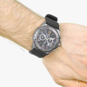 Bulova, Men's Watch, Marine Star, Black, Stainless Steel, Black Plated, Black Silicone, Analogue Watch