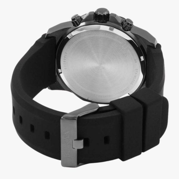 Bulova, Men's Watch, Marine Star, Black, Stainless Steel, Black Plated, Black Silicone, Analogue Watch