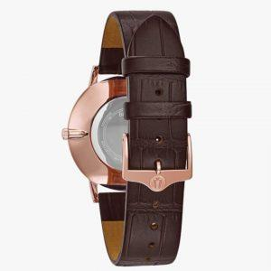 Bulova, Men's Watch, Slim, Rose Gold, Analogue Watch, Leather, Stainless Steel