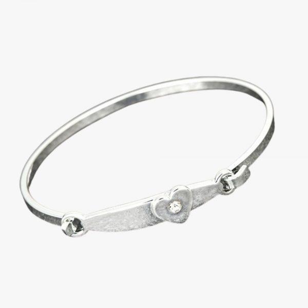 Equilibrium Jewellery Christening Heart Bangle bracelet