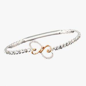 Equilibrium Jewellery looped two hearts bracelet