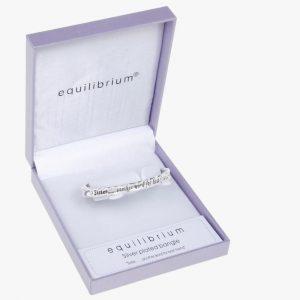 Equilibrium Jewellery silver plated bangle bracelet