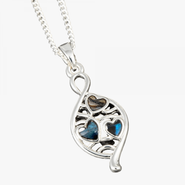 Equilibrium Jewellery heart teardrop necklace