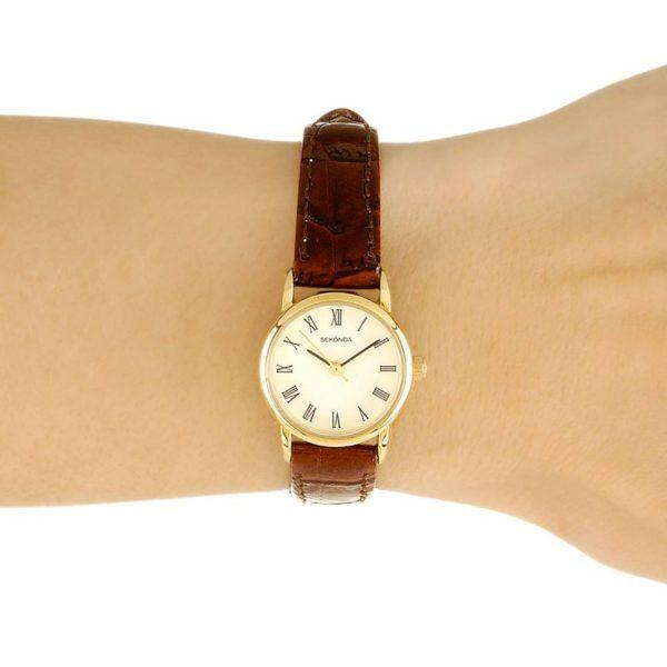 Sekonda, Ladies Watch, Gold Plated, Leather