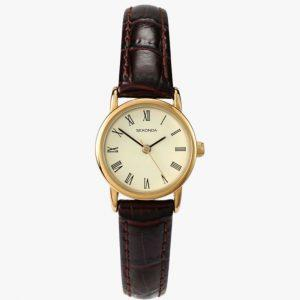 Sekonda, Ladies Watch, Gold Plated, Leather